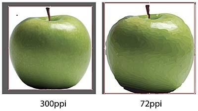 300 ppi vs 72ppi